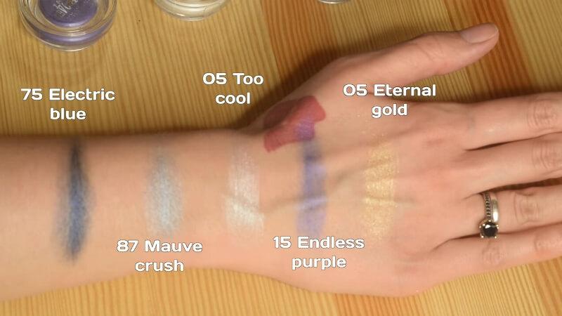 Свотчи №1 кремовых теней Maybelline Color Tattoo