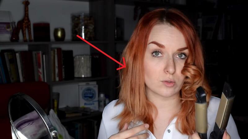 Пример выпрямленной пряди волос при помощи стайлера от BaByliss