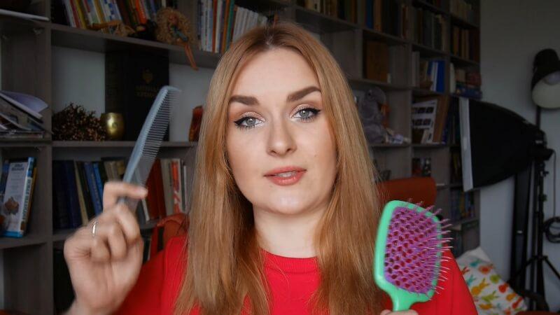 Расческа для пробора и расческа для расчесывания волос и канекалона